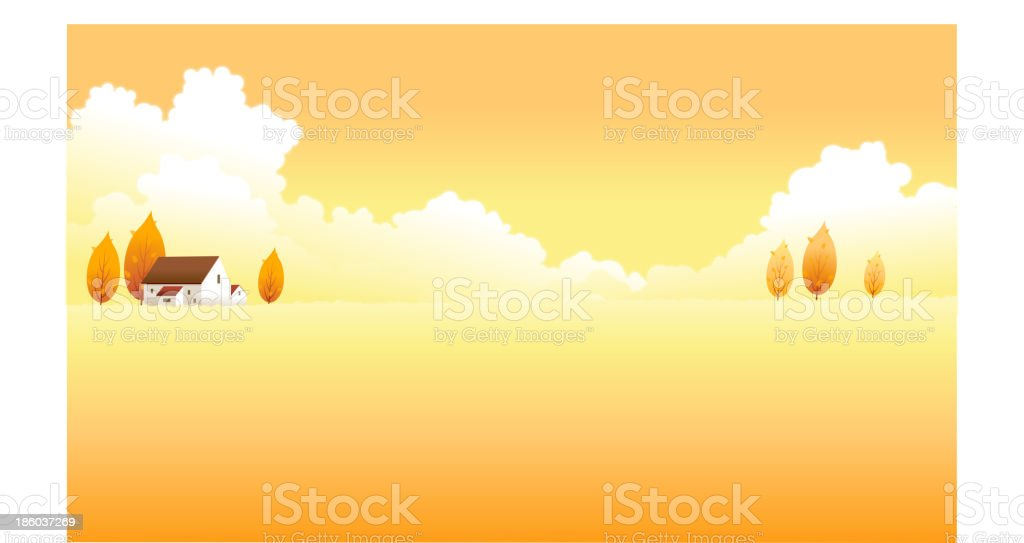 House on a landscape royalty-free stock vector art