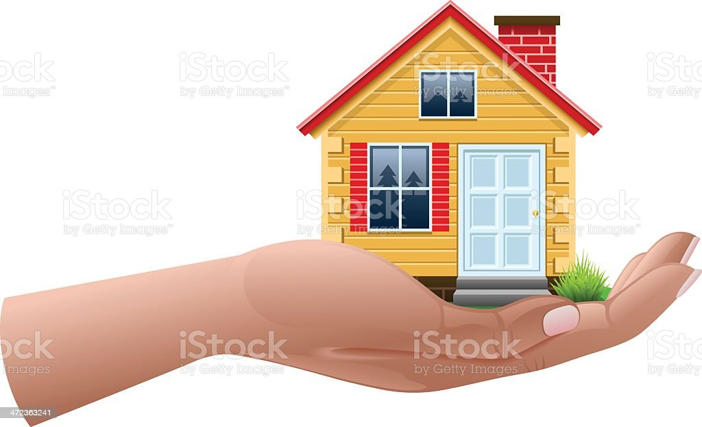 House on hand royalty-free stock vector art