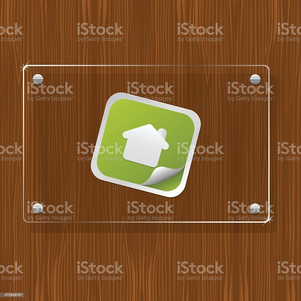 House on wooden texture royalty-free stock vector art
