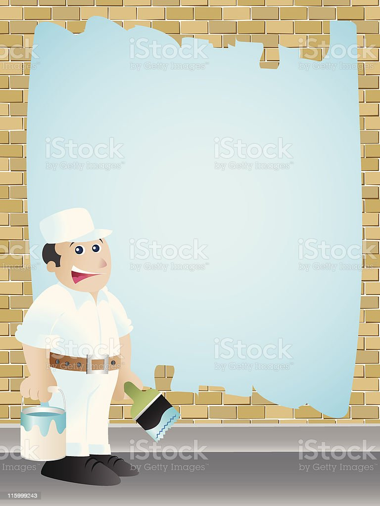 House Painter Sign vector art illustration