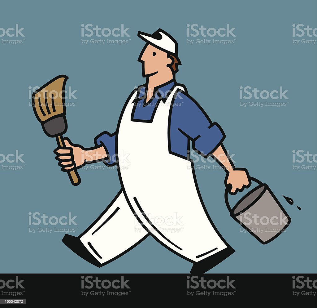 House Painter vector art illustration