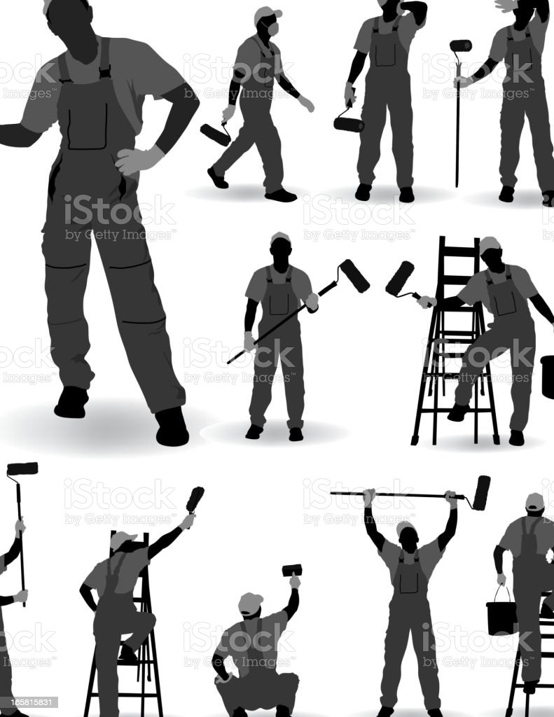 House Painter royalty-free stock vector art