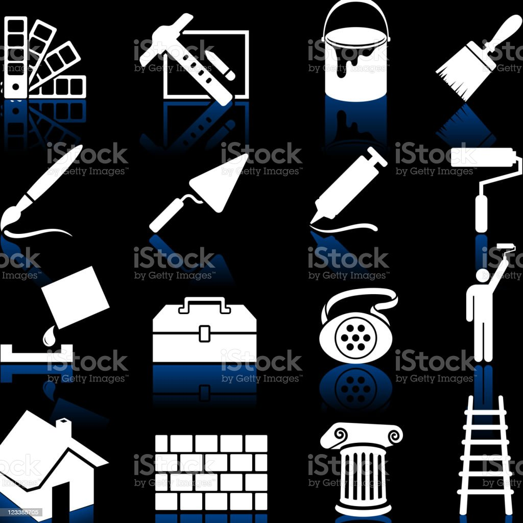 house painting royalty free vector icon set vector art illustration
