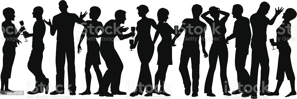 House party vector art illustration