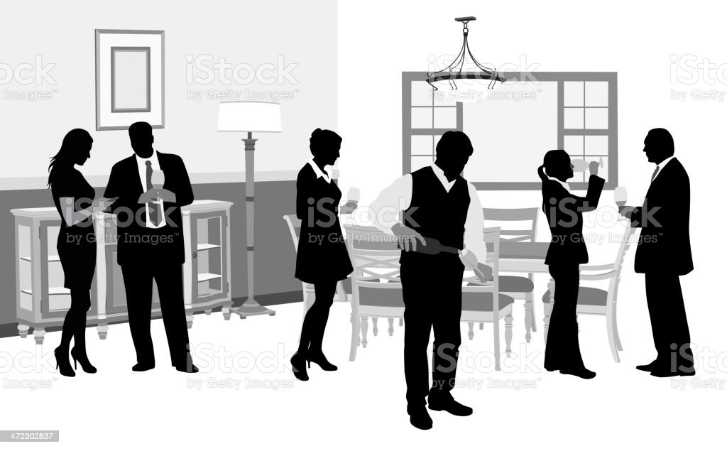 House Party royalty-free stock vector art