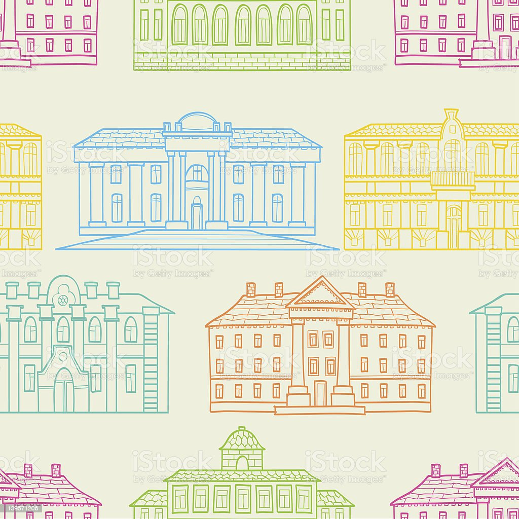 House pattern royalty-free stock vector art
