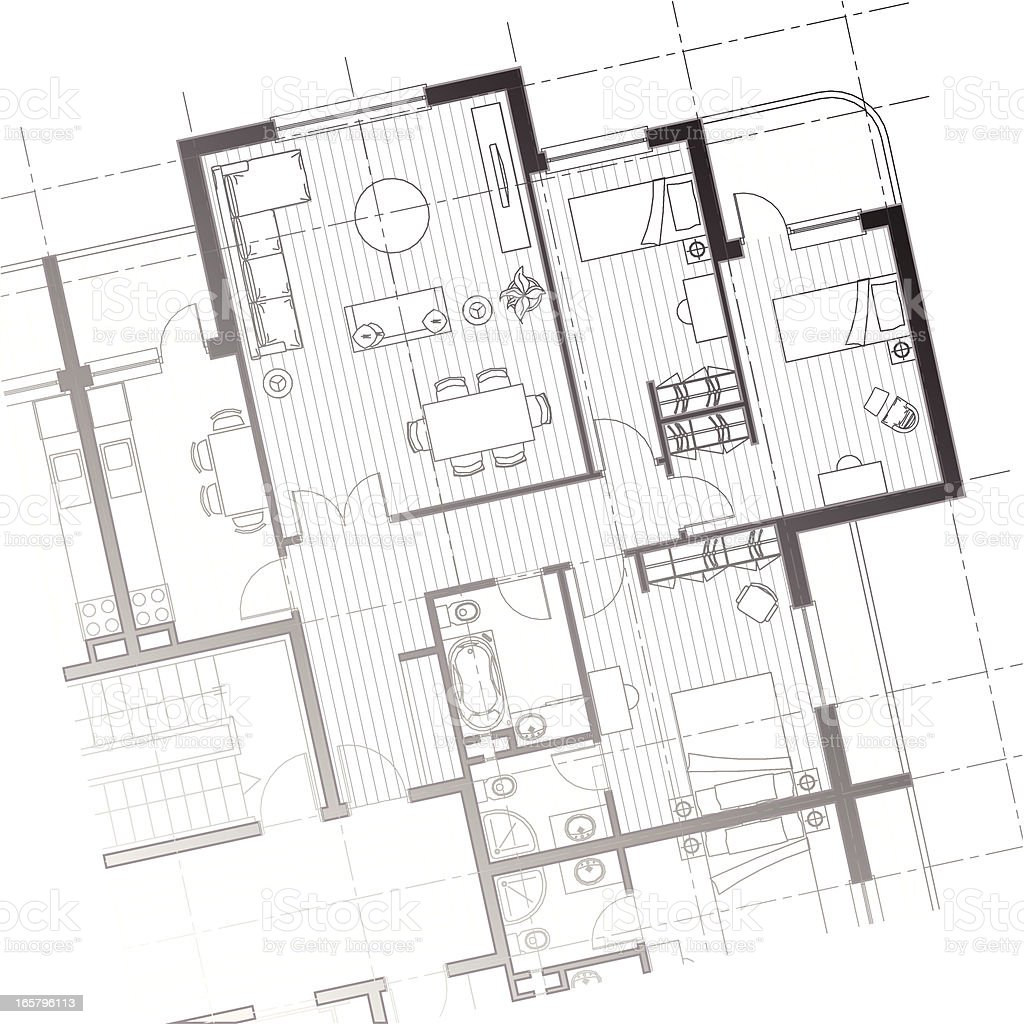 house plan background vector art illustration