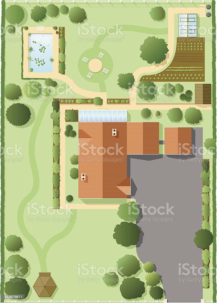House plan vector art illustration