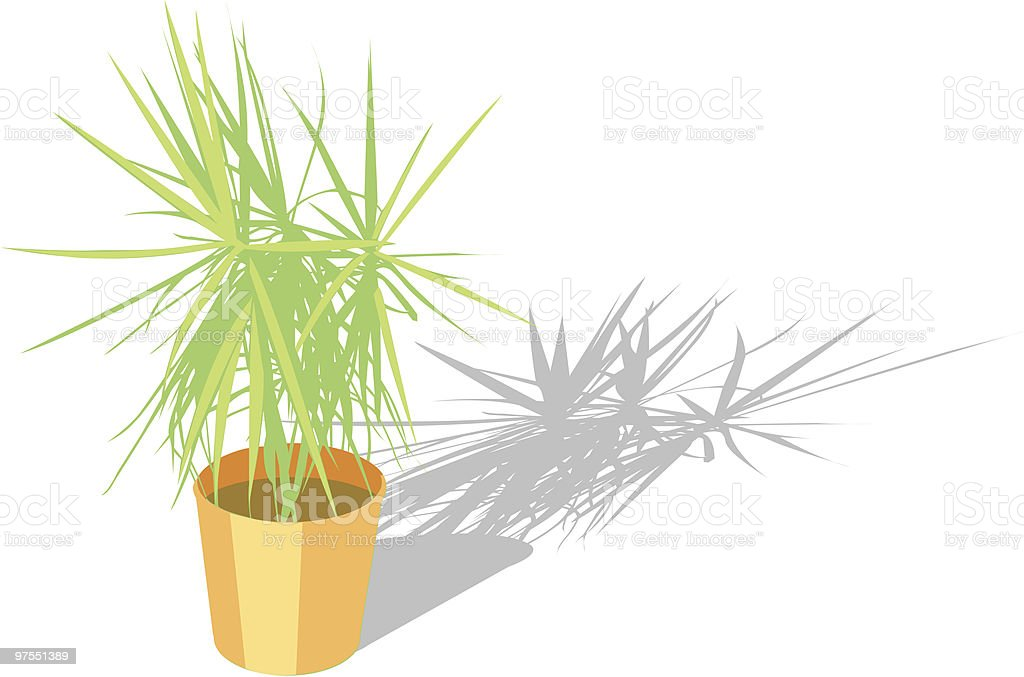 House plant royalty-free stock vector art