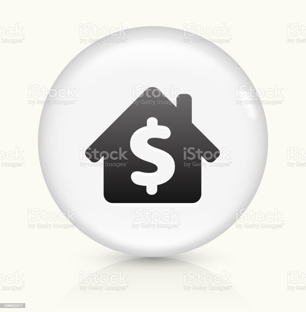 House Price icon on white round vector button vector art illustration
