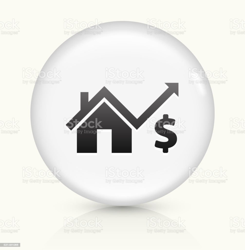 House Pricing icon on white round vector button vector art illustration
