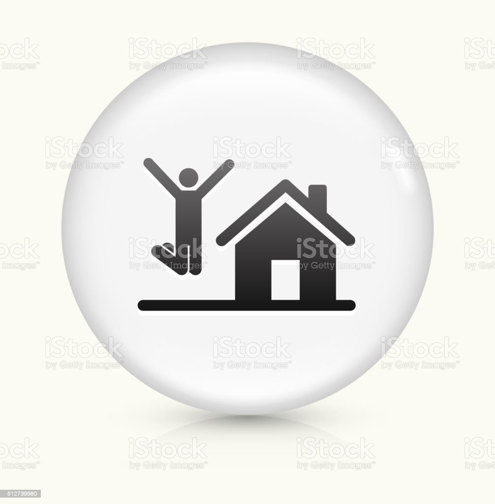 House Purchase icon on white round vector button vector art illustration
