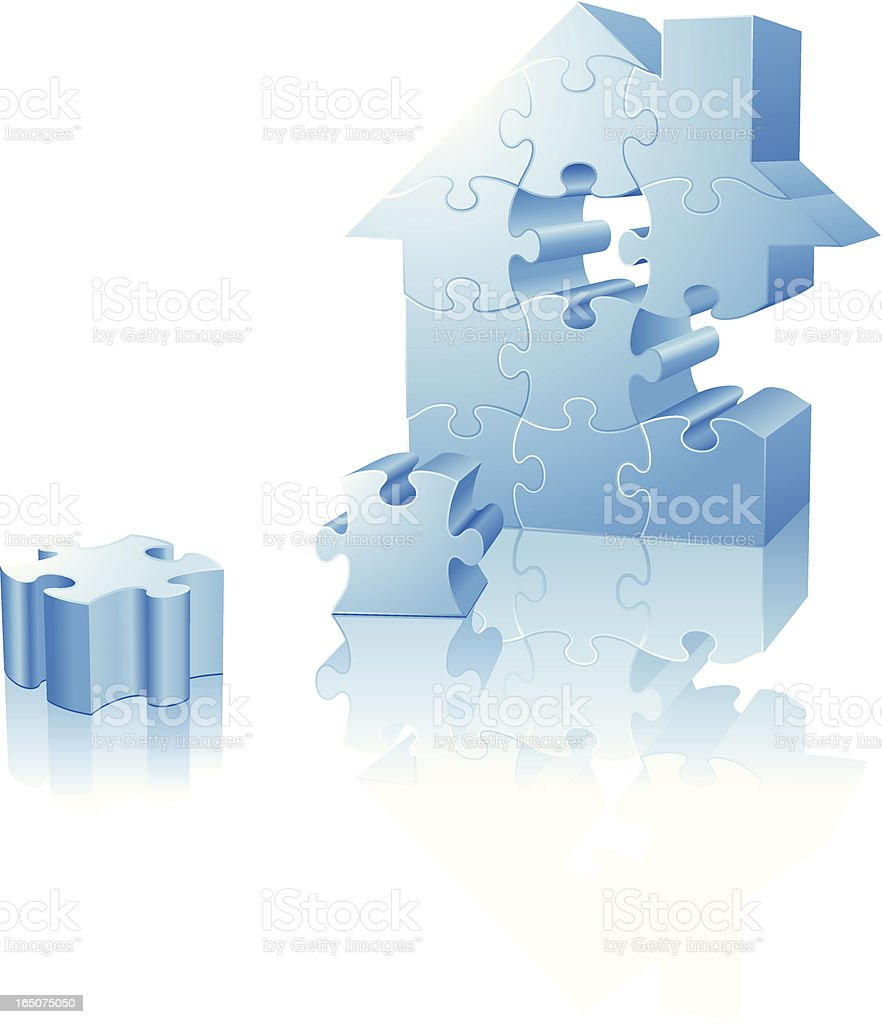 House Puzzle royalty-free stock vector art