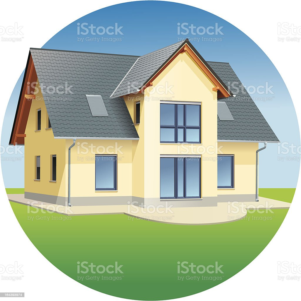 House, real estates, residential building royalty-free stock vector art