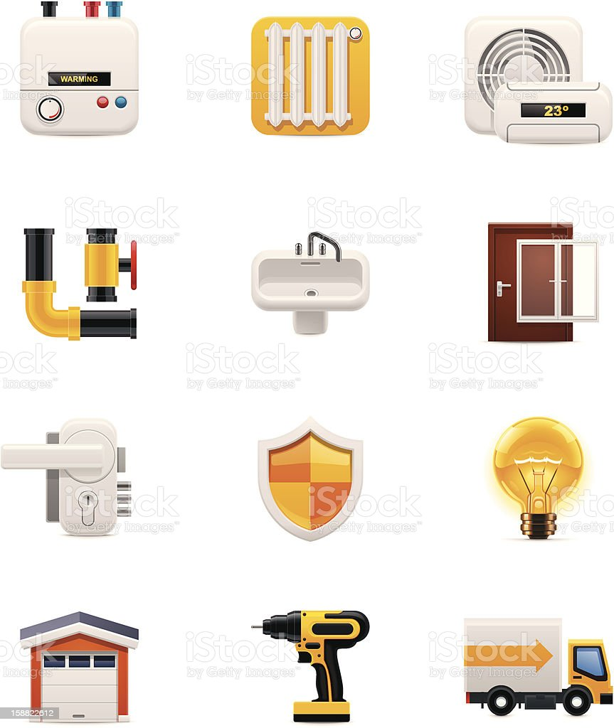 House renovation icon on a white background vector art illustration