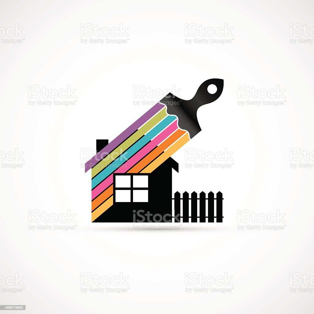 House renovation icon vector art illustration