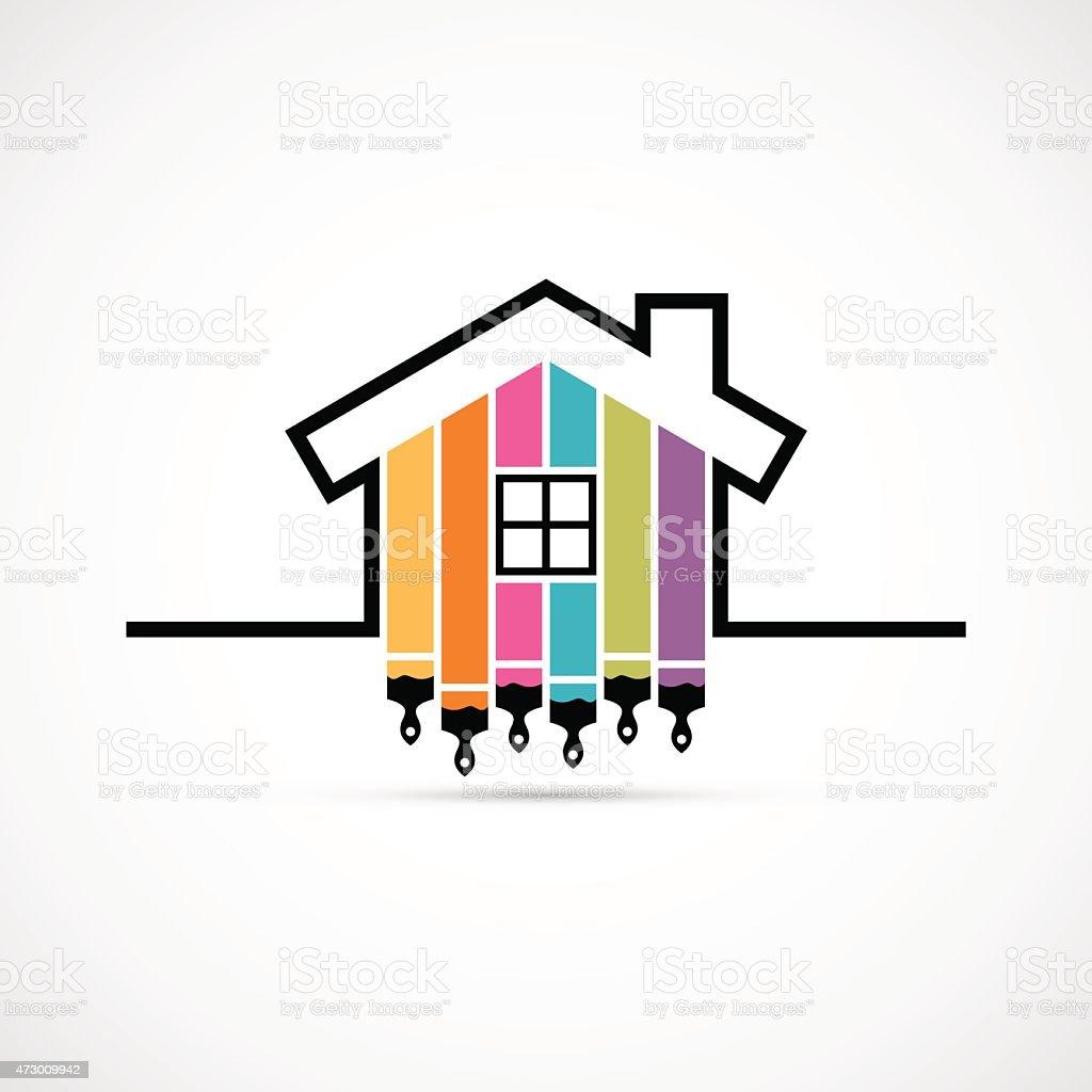 House renovation icon vector art illustration