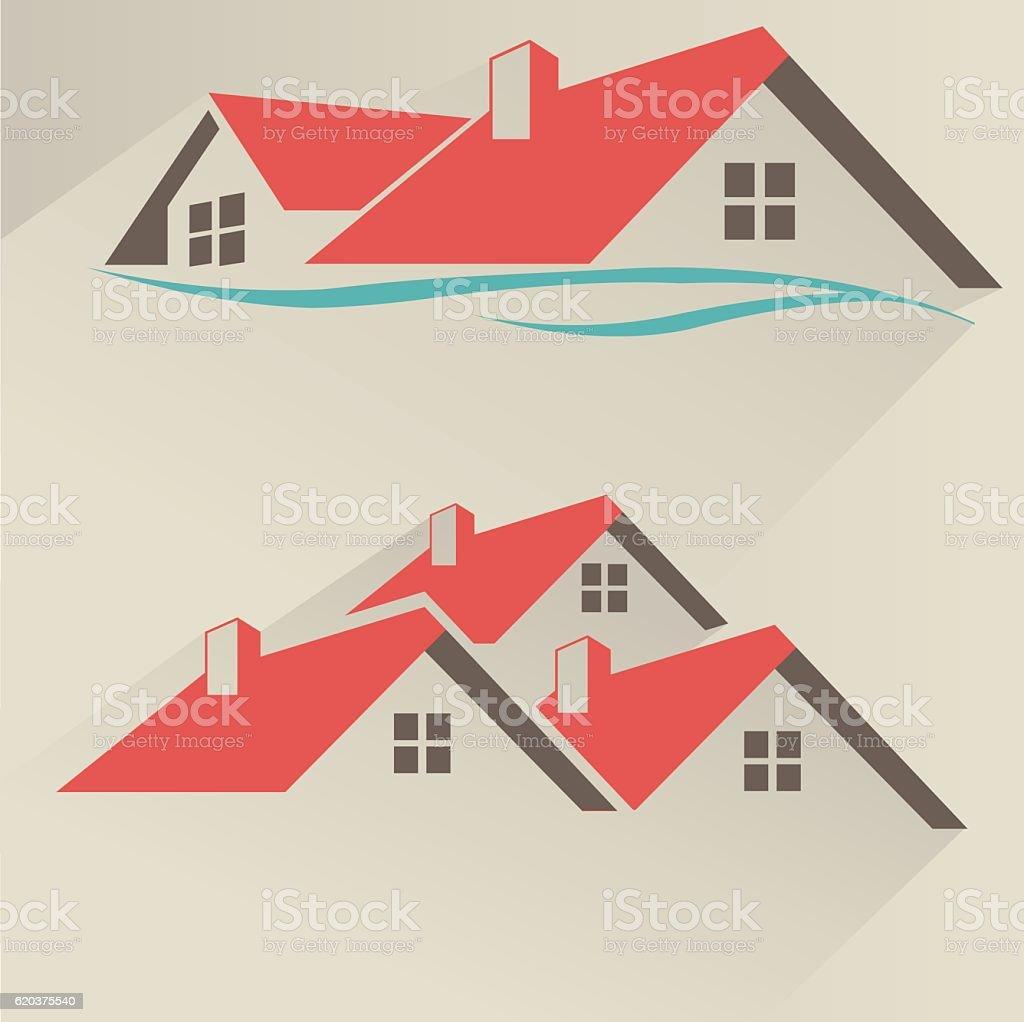 House rental icon vector art illustration
