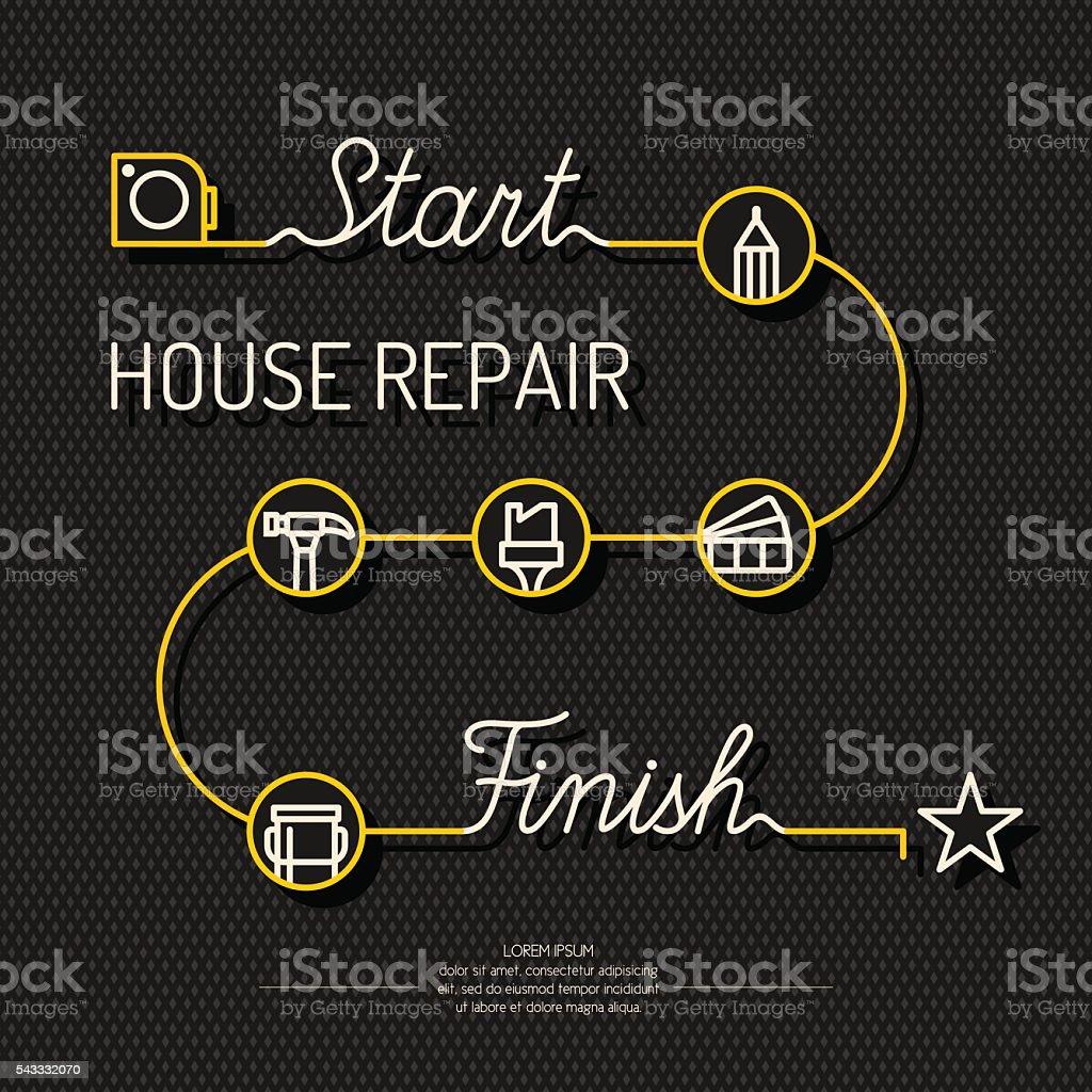 House repair poster. vector art illustration