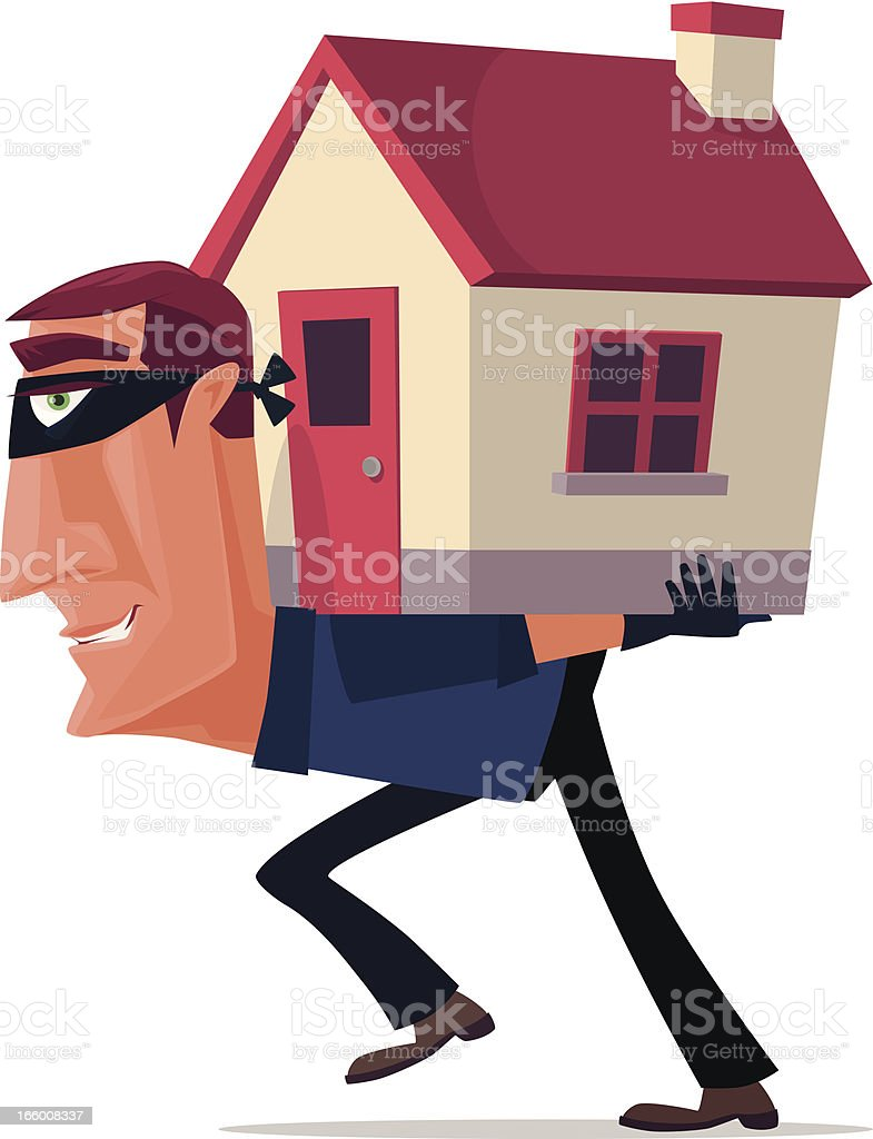 house robber vector art illustration