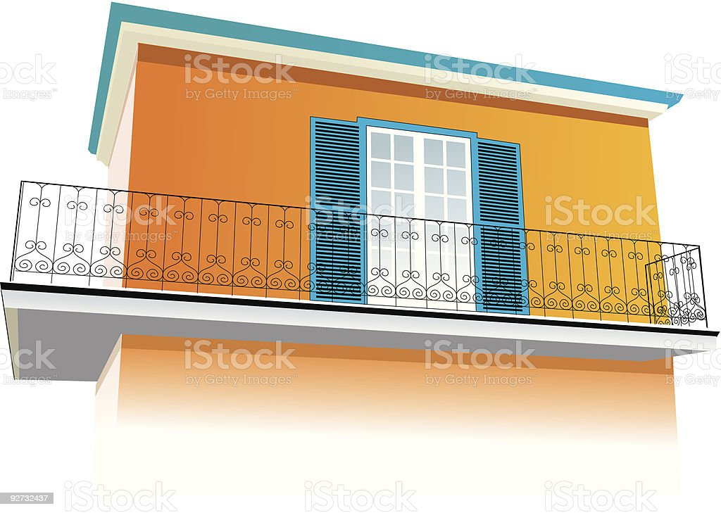 House - rural, provencal, southern architecture royalty-free stock vector art