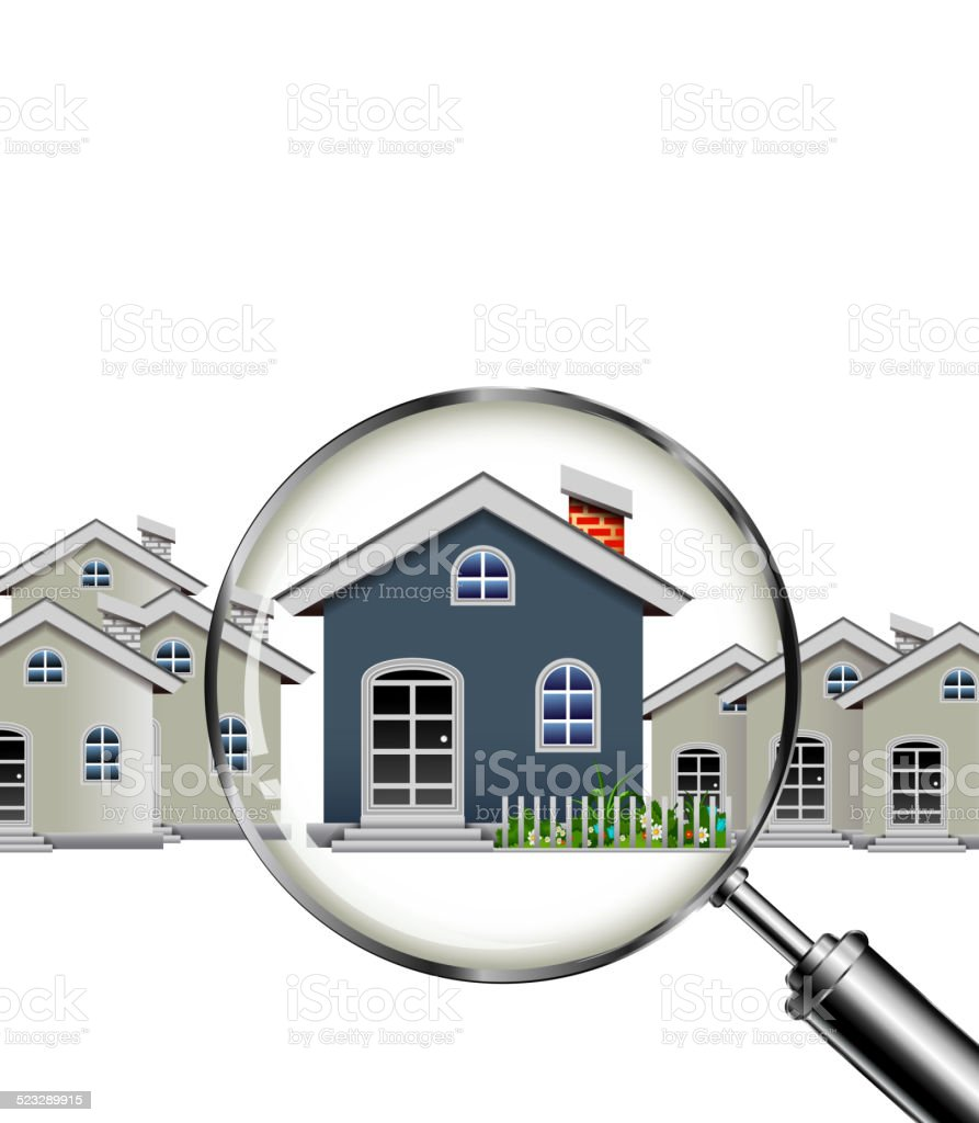 House search for you design vector art illustration