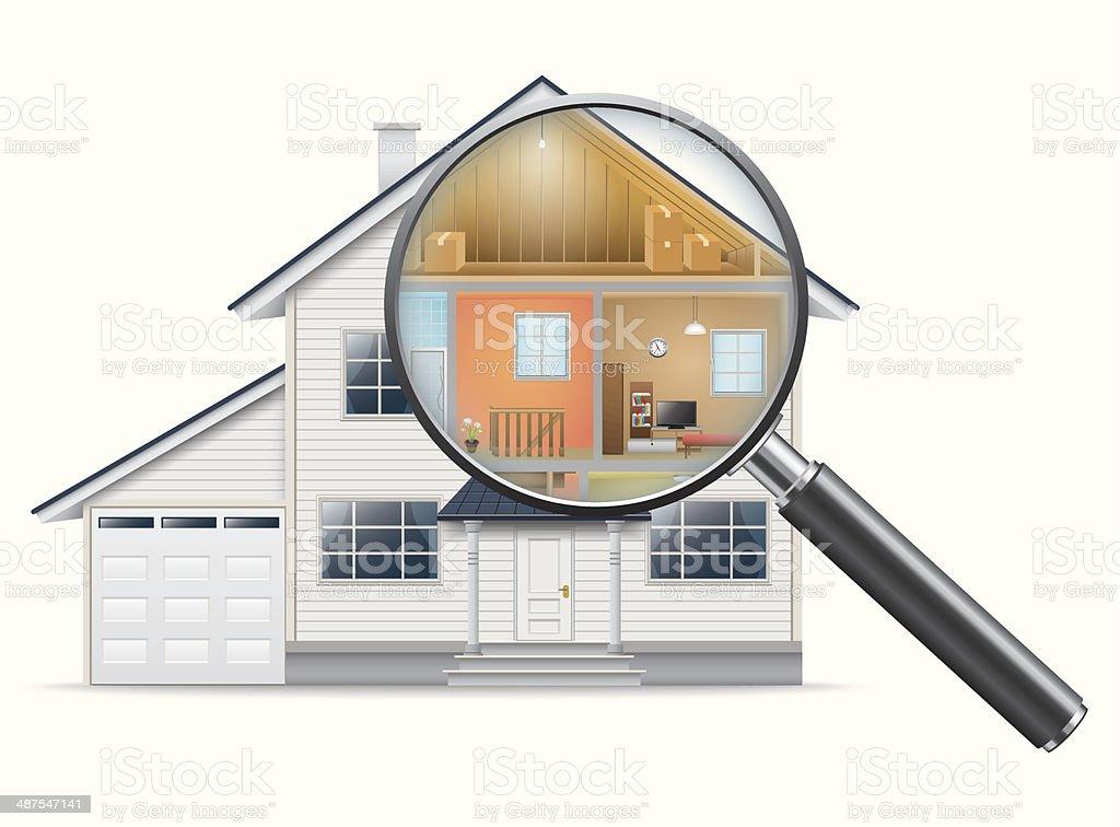 House Search vector art illustration