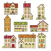 House set graphic color isolated sketch illustration vector