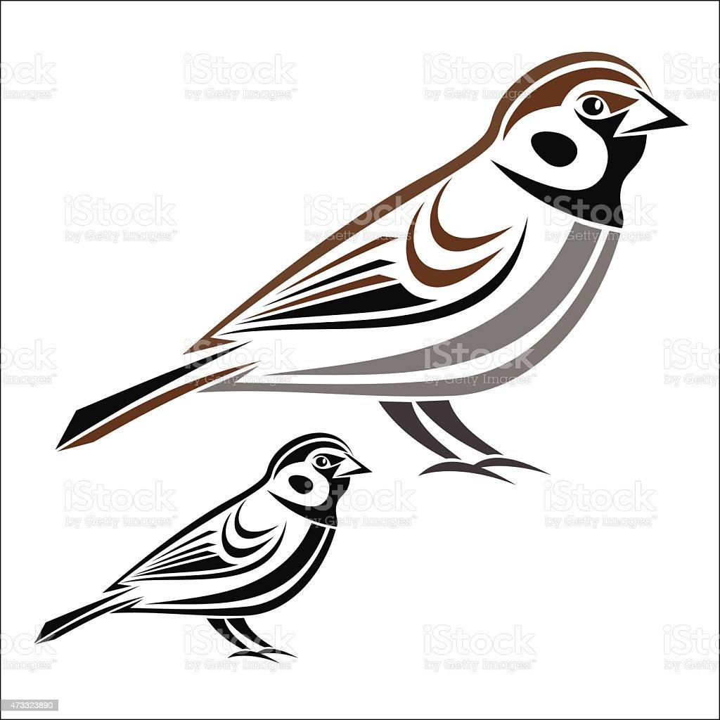 House sparrow royalty-free stock vector art