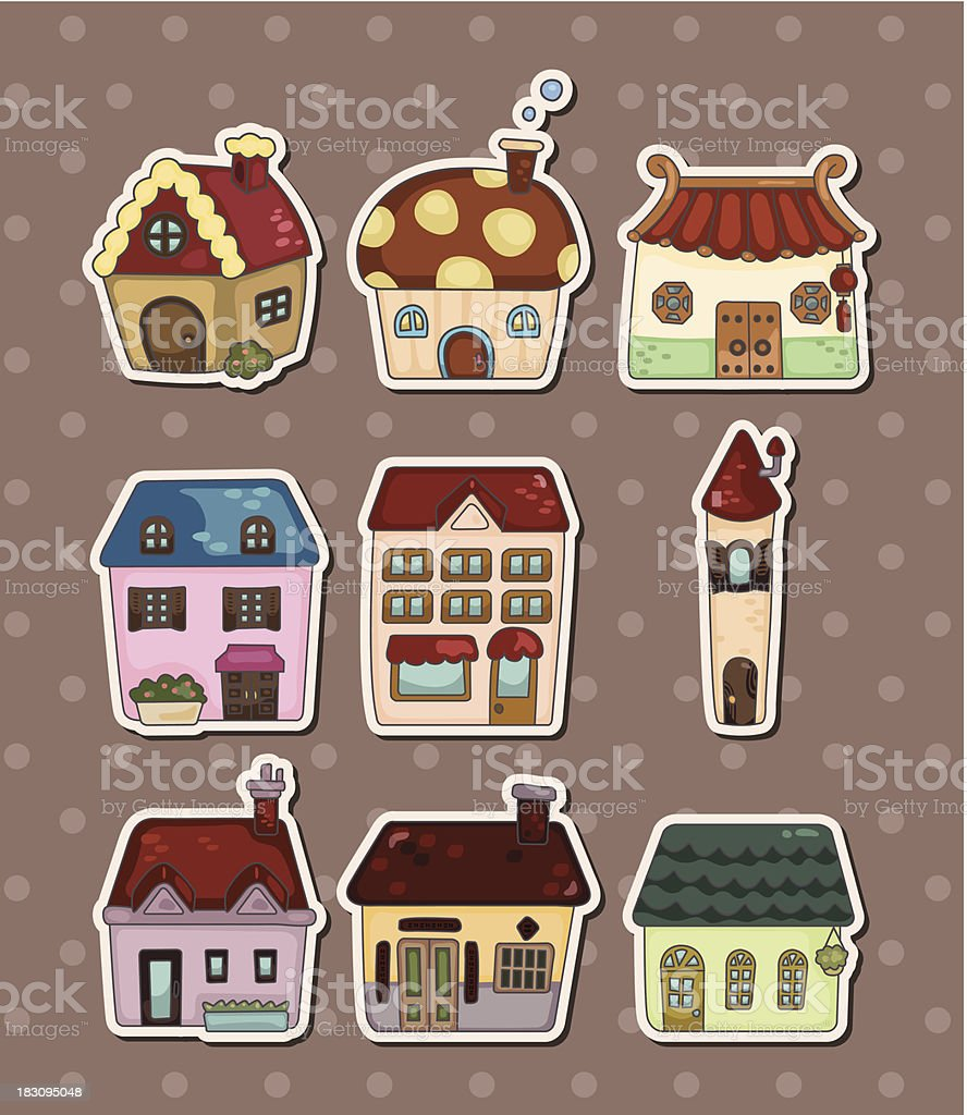 house stickers royalty-free stock vector art