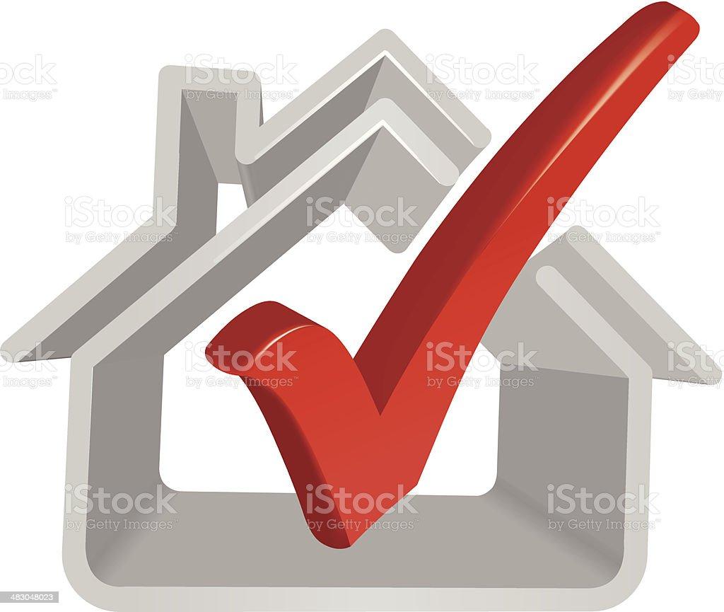 House symbol and Check Mark royalty-free stock vector art