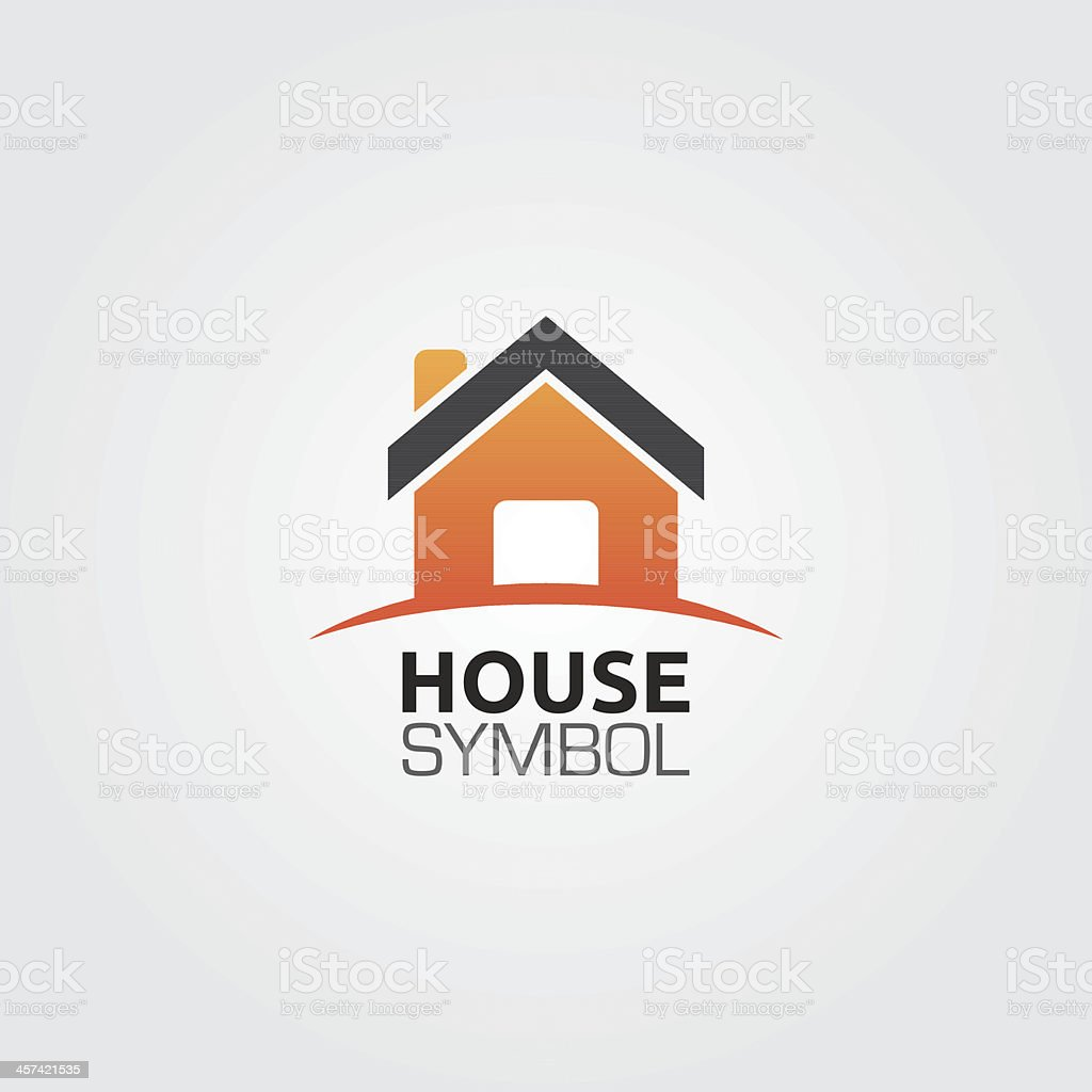House Symbol vector art illustration