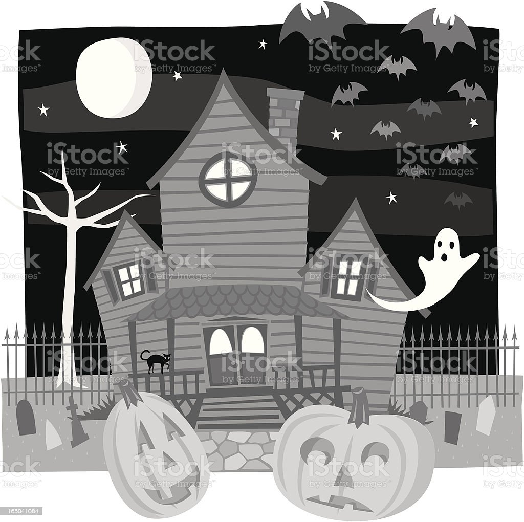 House to Haunt vector art illustration