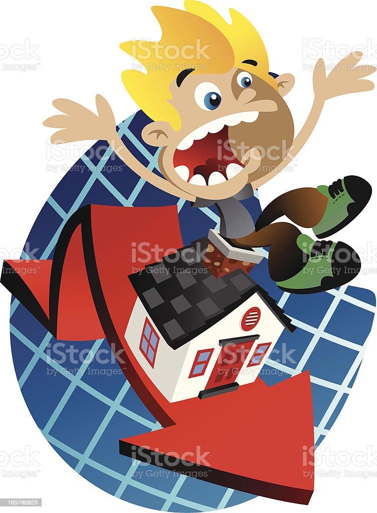 House Value Drop vector art illustration