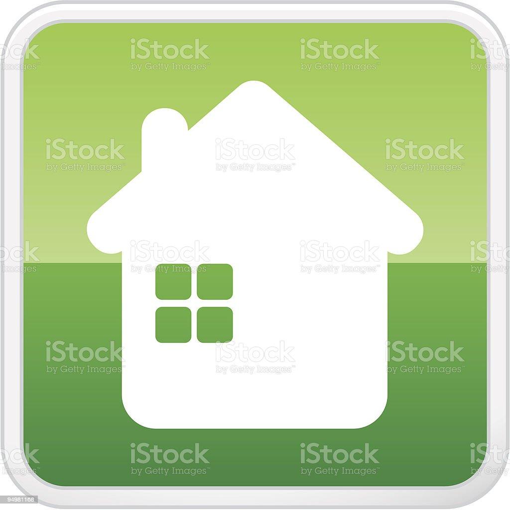House. Vector icon. Button royalty-free stock vector art