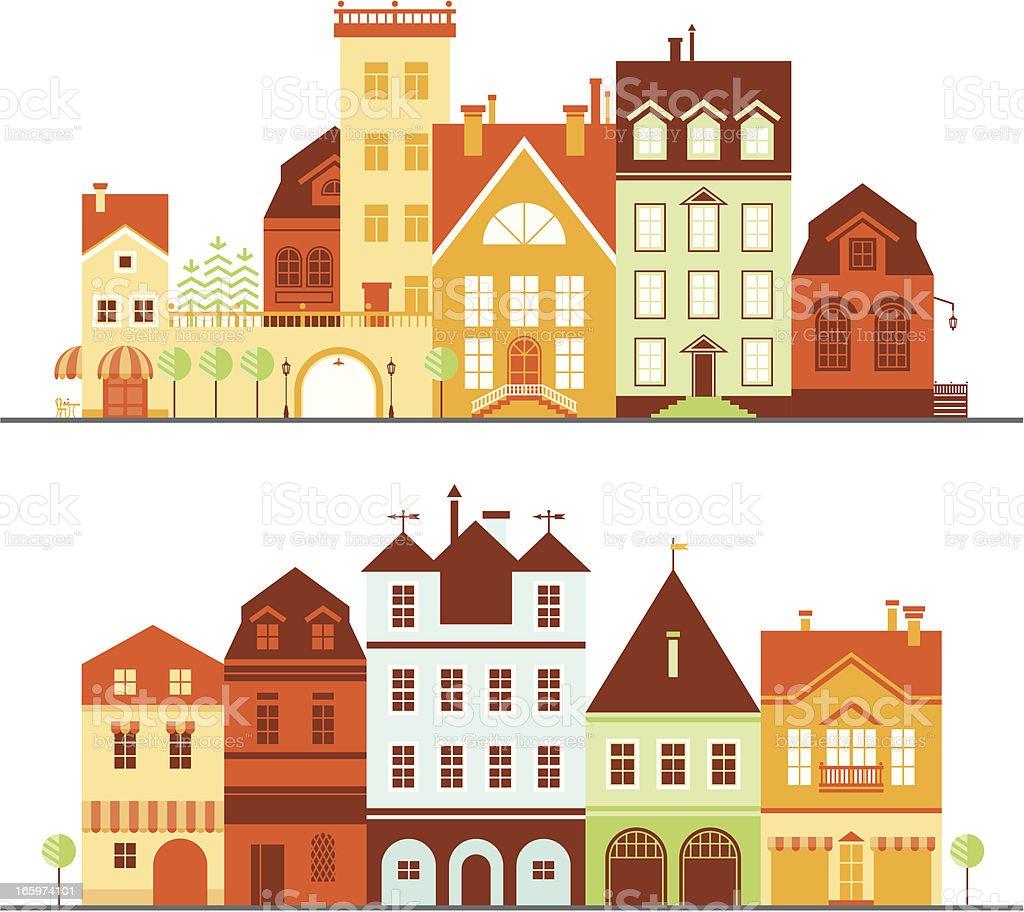 House Vector Icons vector art illustration