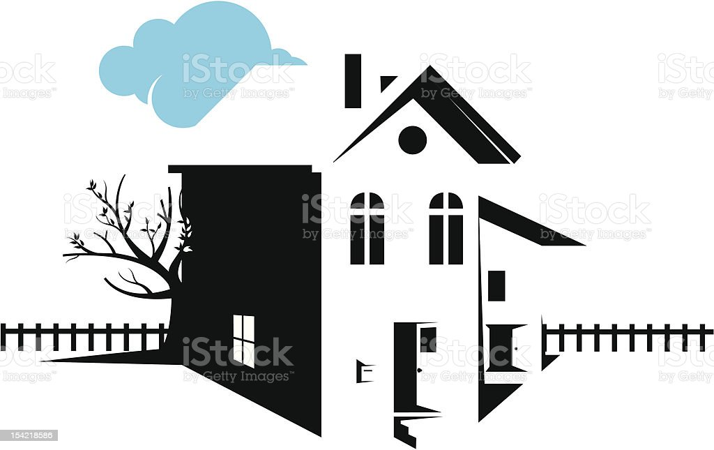 house royalty-free stock vector art