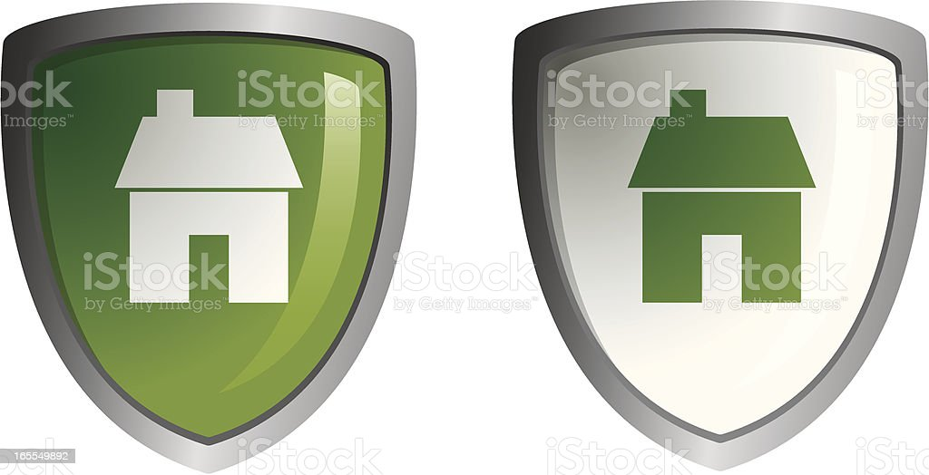 SHIELDS house royalty-free stock vector art