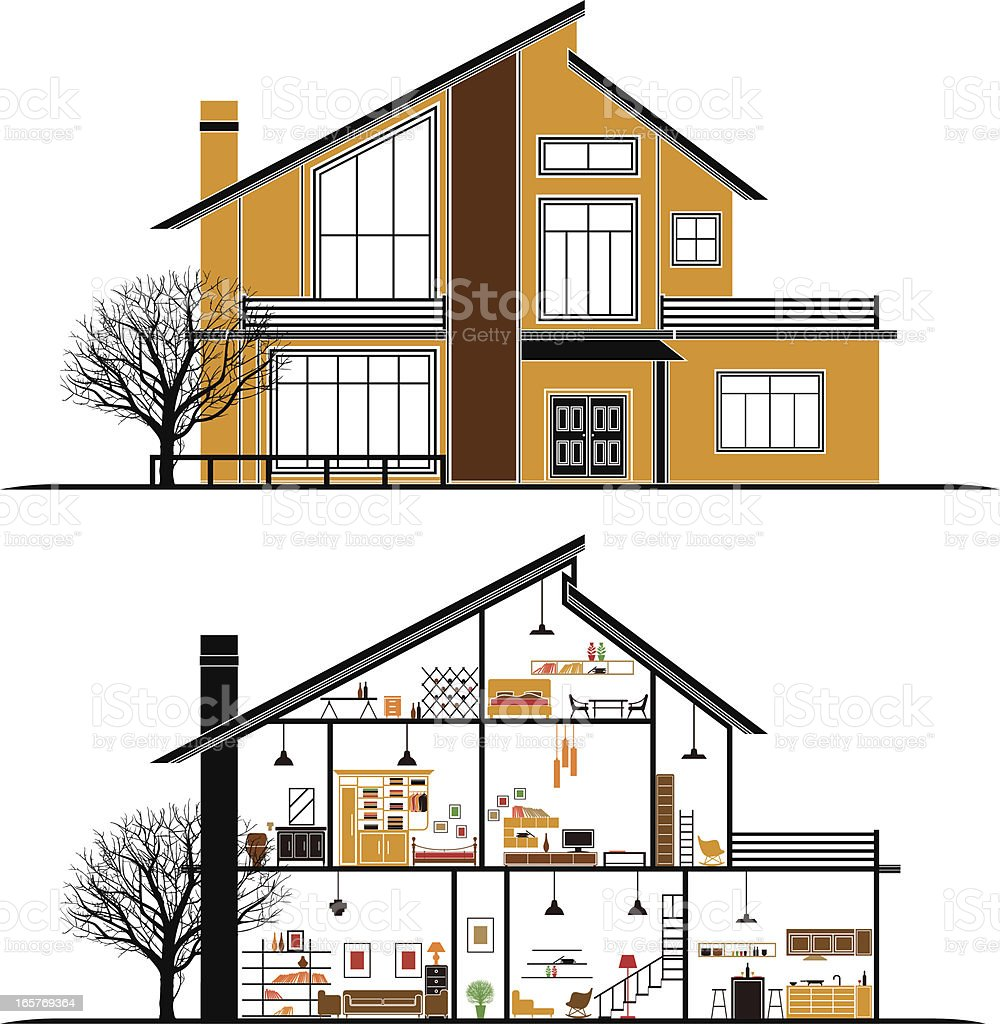 house vector art illustration