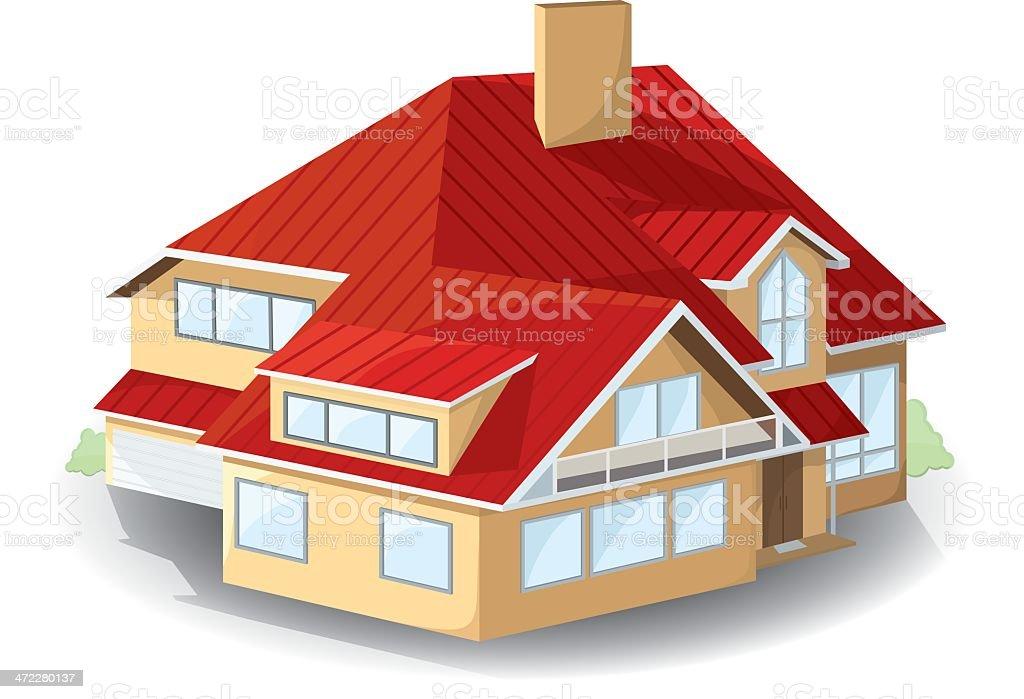 House. vector art illustration