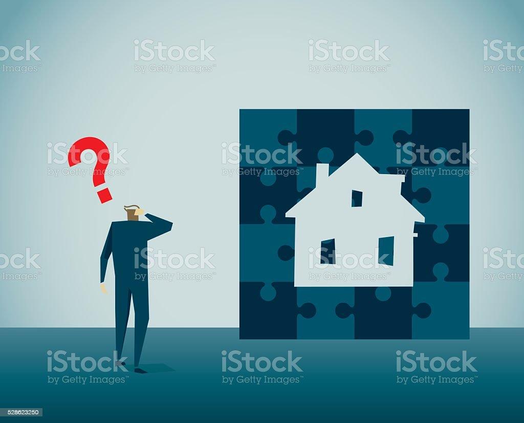 House vector art illustration