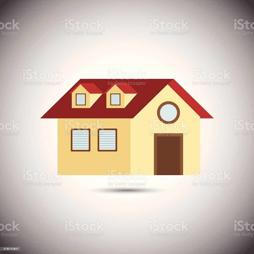 Maison.  Illustration vectorielle stock vecteur libres de droits libre de droits