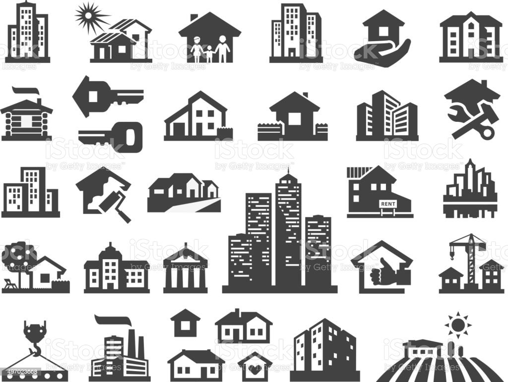 house vector logo design template. estate or building icons vector art illustration