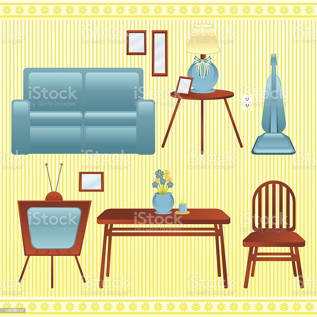 Household Items vector art illustration