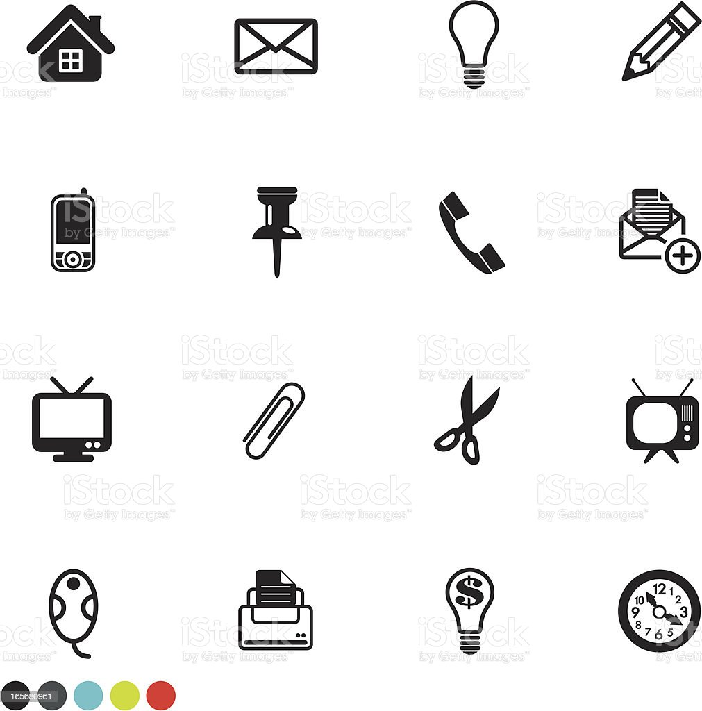 household object icon set royalty-free stock vector art