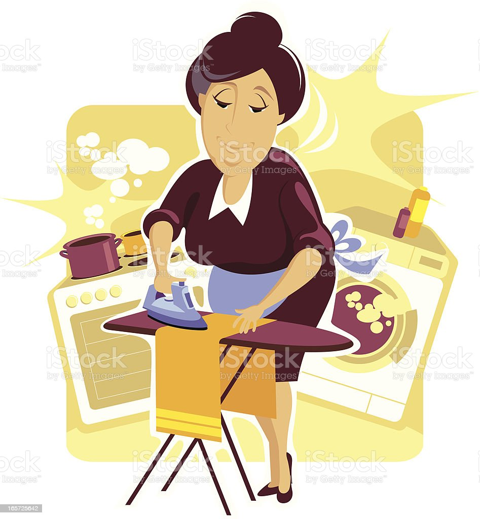 Housekeeper. vector art illustration