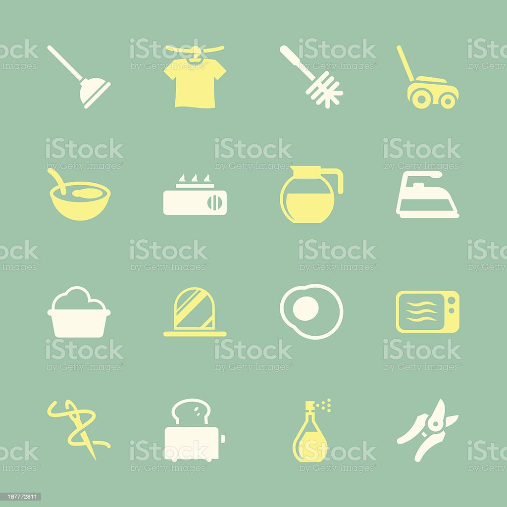 Housekeeping Icons - Color Series | EPS10 royalty-free stock vector art