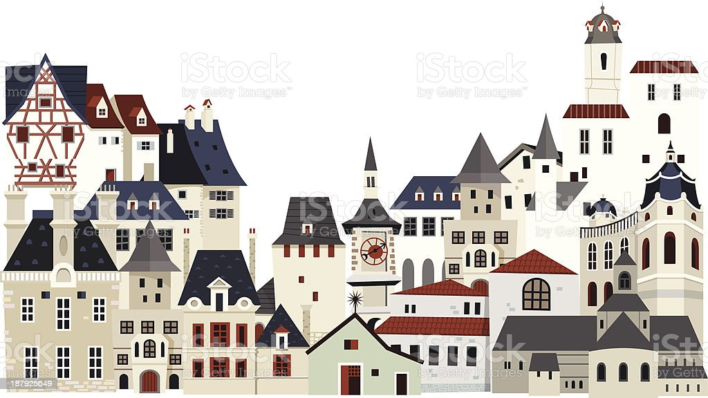 Houses and buildings royalty-free stock vector art
