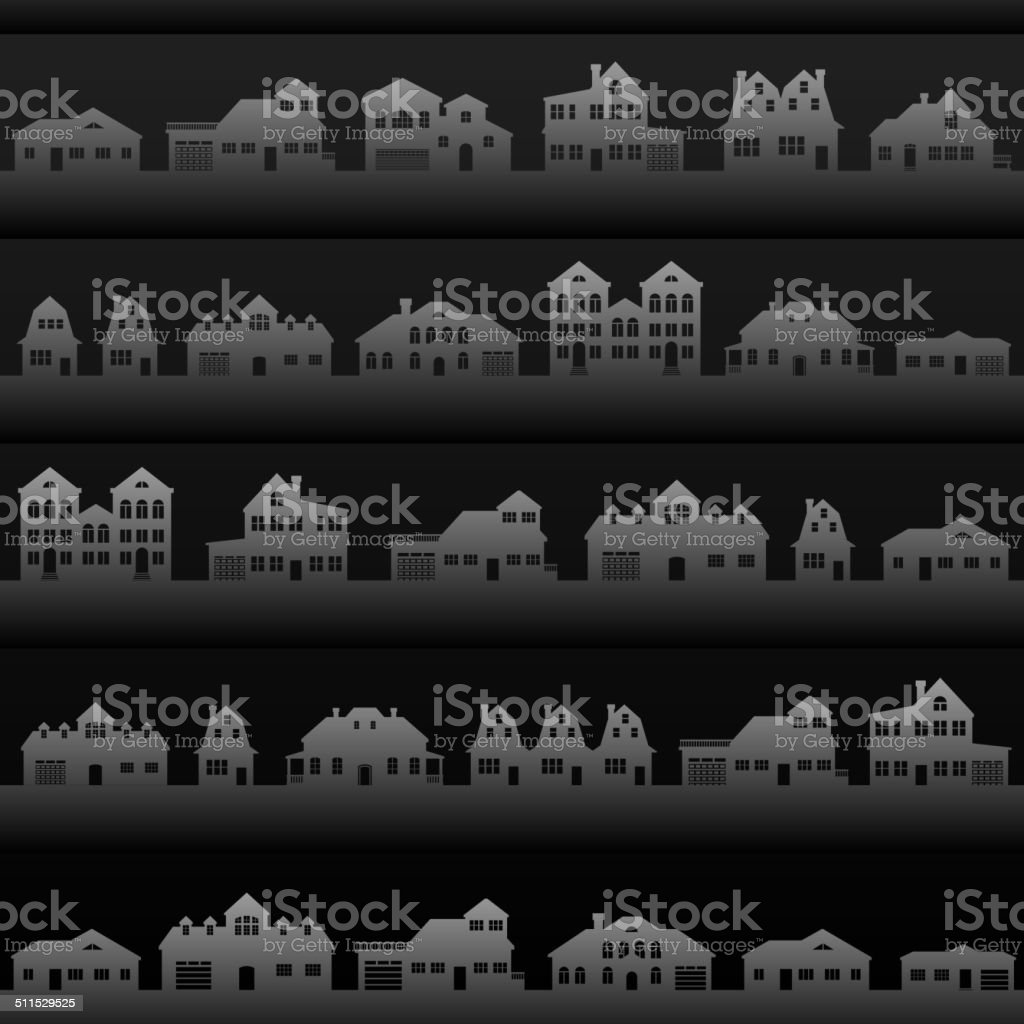 Houses & Buildings Background royalty free vector interface icon set vector art illustration