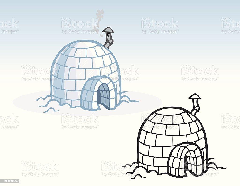 Houses - Igloo vector art illustration